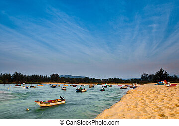 Malaysian Fishermen's Boats Sunset