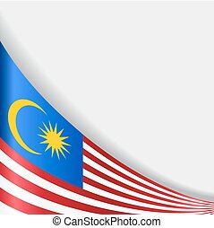 Malaysian flag background. Vector illustration.