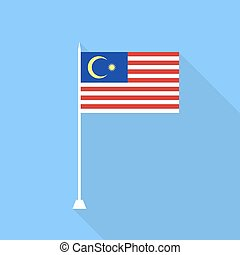 Malaysian flag. Vector illustration .