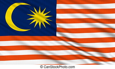 Malaysian flag, with real structure of a fabric