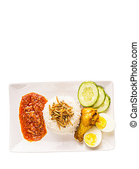 Malaysian Nasi Lemak - Nasi lemak a traditional and popular...