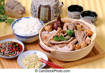 Malaysian stew of pork and herbal soup, ba kut teh.