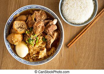 bak kut teh - Malaysian stew of pork and herbal soup, bak ...