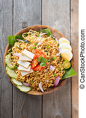 Malaysian style maggi goreng mamak or spicy dried curry...