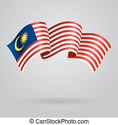 Malaysian waving Flag. Vector illustration Eps 8.