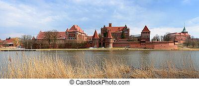 malbork, casta, em, polônia