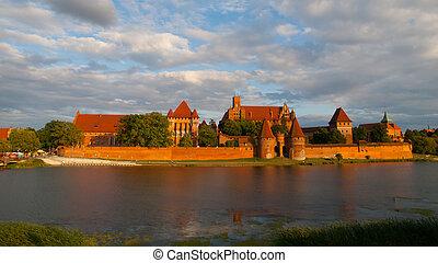 malbork, castelo, em, polônia