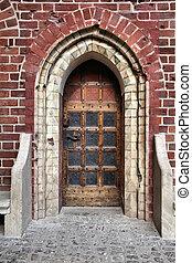 Malbork castle door