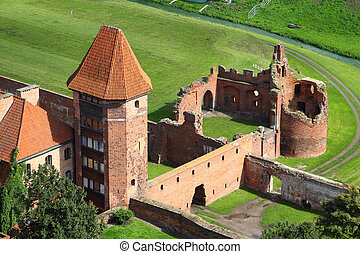 Malbork castle in Pomerania region of Poland. UNESCO World ...