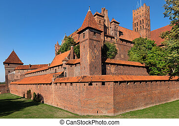 Malbork castle, Teutonic Knights' fortress also known as...