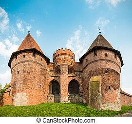 malbork, kasteel, (marienburg), pomerania, poland.