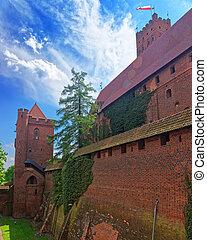 malbork, muren, kasteel
