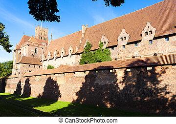 malbork, polônia, pomerania, castelo