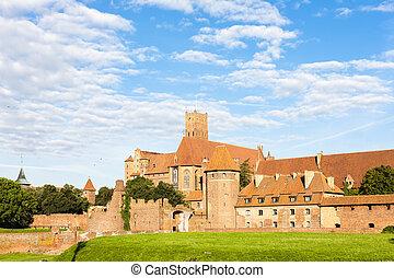 malbork, polonia, pomerania, castillo
