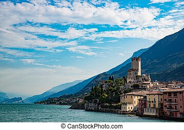 Malcesine is a town on the eastern shore of Lake Garda