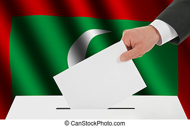maldivas, bandera