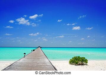 maldivas, embarcadero