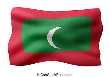 Maldives 3d flag