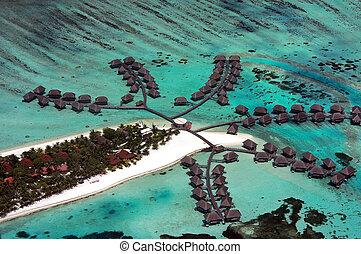Maldives aerial - Tropical Island paradise - the Maldives,...