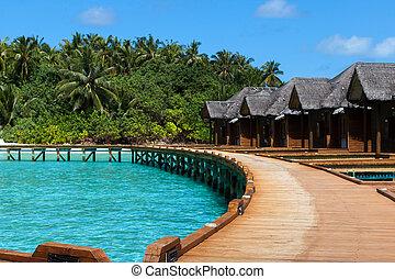 Maldives, water villas