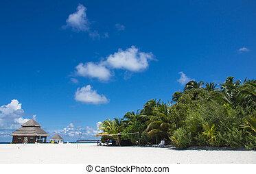 Maldivian beach on a clear day