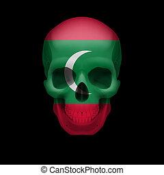 Maldivian flag skull