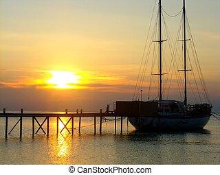 maldivian, pôr do sol