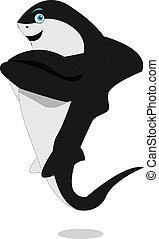 maldoso, tubarão