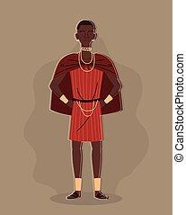 aborigine in traditional costume