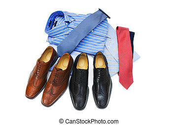 Male accessories isolated on the white background