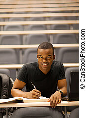 male african american college student