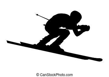 male alpine skier