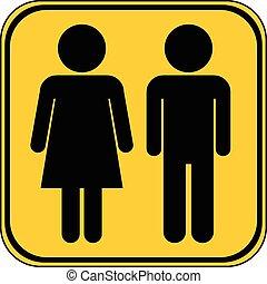 Male and Female button.