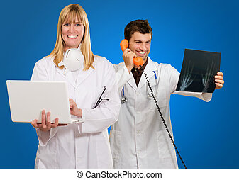 Male And Female Doctor's At Work