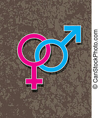 Male and Female Gender Symbol Interlocking