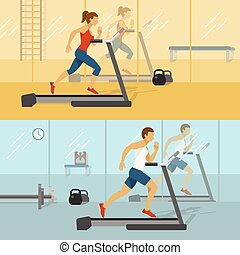 Male And Female Gyms Design