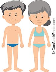 Male and Female Old Age illustration
