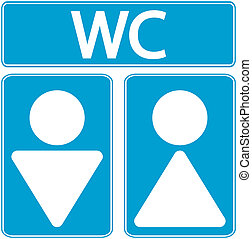 Male and female restroom symbol icons. Vector illustration.