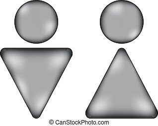 Male and female restroom symbol sign icon. Vector...