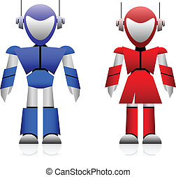 Male and Female Robot