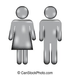 Male and Female sign icon.