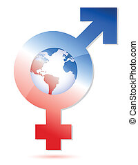 male and female symbol illustration design