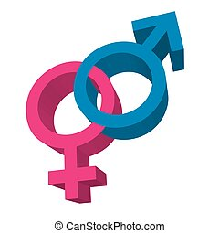 male and female symbol isolated icon
