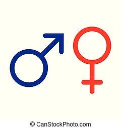 Male and female symbol set logo. Vector illustration - Male...