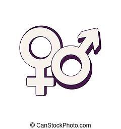 male and female symbol vector illustration design