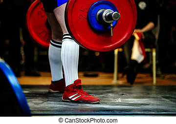 male athlete powerlifter