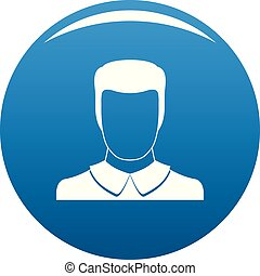 Male avatar icon blue vector