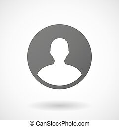 male avatar  icon on white background