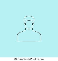 Male avatar profile picture - vector
