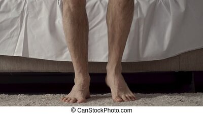 male bare feet photo - Male bare feet photo. Waking up in...